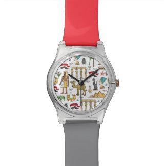 Color Symbols of Egypt Pattern Watch