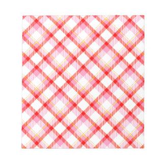 Color tartan texture notepad