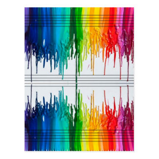 Color The Music or Music the Color Postcard