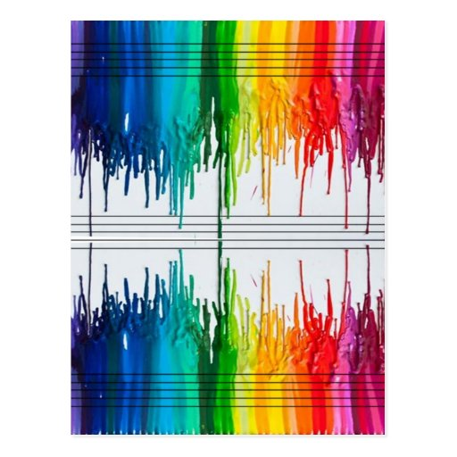 Color The Music or Music the Color Post Card