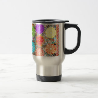 Color Therapy Graphics : Healing Energy Chakra Stainless Steel Travel Mug