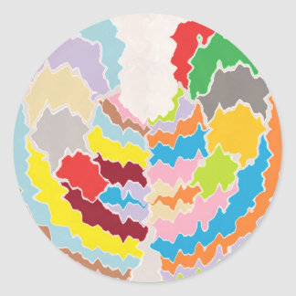 Color Therapy -  Multicolor Rainbow Assortments Round Sticker