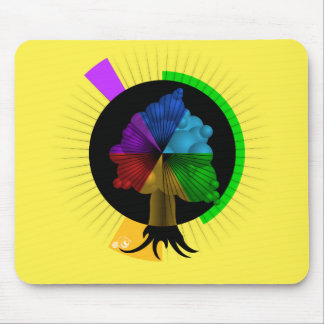 Color-Tree graphic mouse-pad Mouse Pad