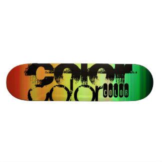 Color; Vibrant Green, Orange, & Yellow Skate Board