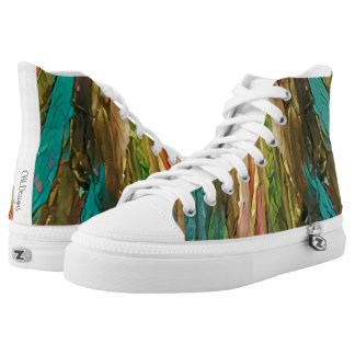 Color Vines high tops Printed Shoes