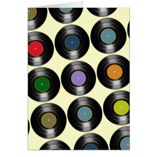 color vinyl records pattern card