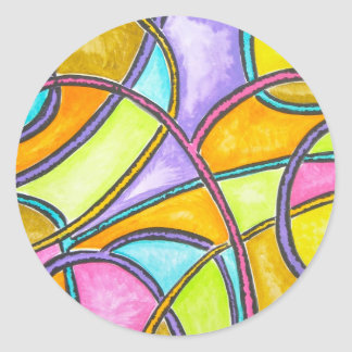 Color Weave - Abstract Art Stickers