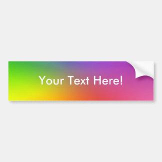 Color Wheel: Abstract Colors Bumper Sticker