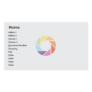 Color Wheel - Business Pack Of Standard Business Cards