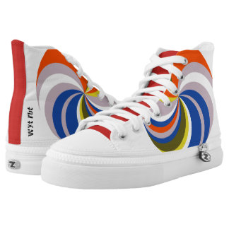 Color wheel High Tops Printed Shoes