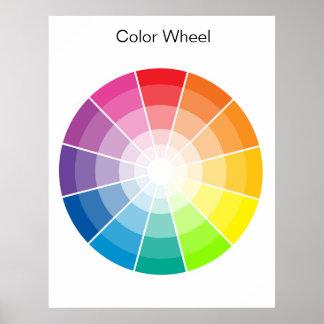 Color Wheel - light Poster