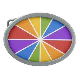Color Wheel / Rays custom belt buckle