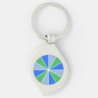 Color Wheel Rays custom key chain Key Rings