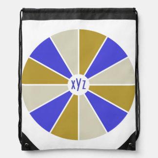 Color Wheel / Rays custom monogram bag