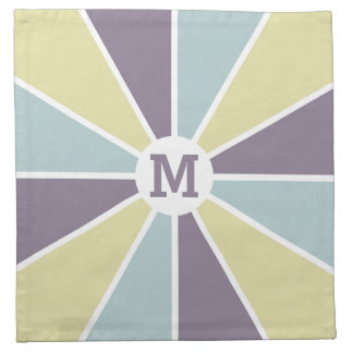 Color Wheel / Rays custom monogram cloth napkins