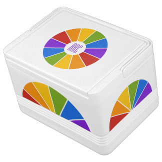 Color Wheel / Rays custom monogram cooler Igloo Cool Box