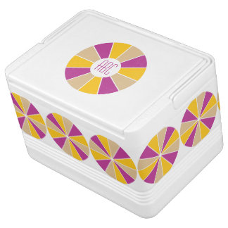 Color Wheel / Rays custom monogram cooler Igloo Cooler
