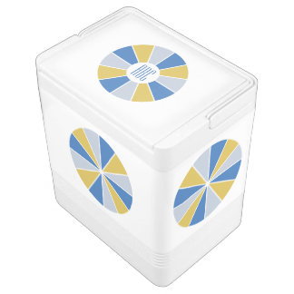 Color Wheel / Rays custom monogram cooler Igloo Cooler