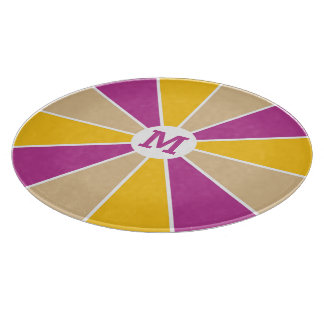 Color Wheel / Rays custom monogram cutting board