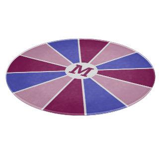 Color Wheel / Rays custom monogram cutting board