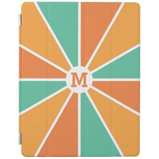 Color Wheel / Rays custom monogram device covers iPad Cover