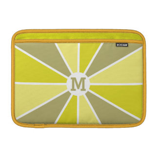 Color Wheel / Rays custom monogram device sleeves MacBook Sleeve