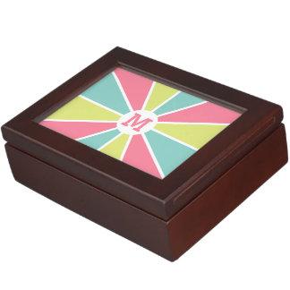 Color Wheel / Rays custom monogram keepsake box