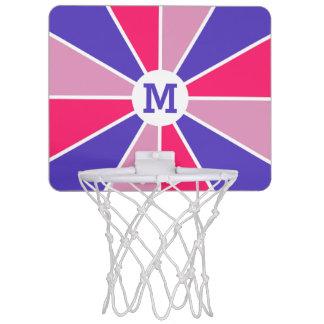 Color Wheel / Rays custom monogram mini hoop