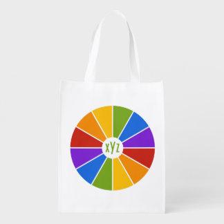 Color Wheel / Rays custom monogram reusable bag
