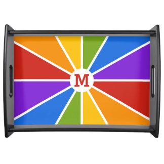 Color Wheel / Rays custom monogram tray
