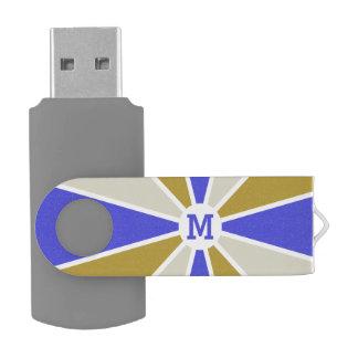 Color Wheel / Rays custom monogram USB drives