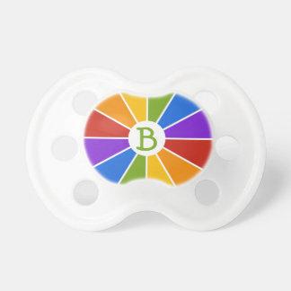 Color Wheel / Rays custom pacifier