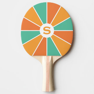 Color Wheel / Rays custom ping pong paddle