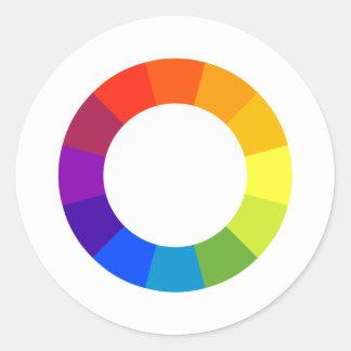 Color Wheel Round Sticker