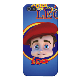 Color with Leo iPhone 4 Case- Midnight Blue iPhone 5 Case