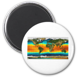 COLOR WORLD MAP 6 CM ROUND MAGNET