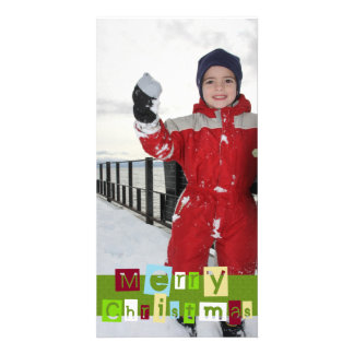 Color your Christmas photo card