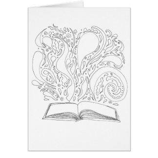 Color Your Own Card - Book Magic