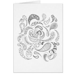 Color Your Own Card - Paisleys