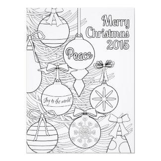 Color Your Own Christmas 17 Cm X 22 Cm Invitation Card