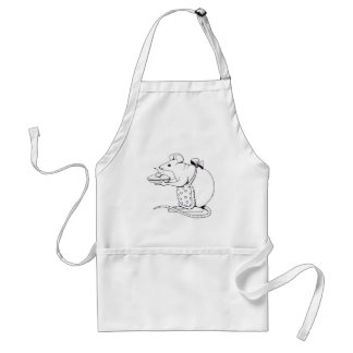 Color Your Own: Mama Mouse Holding a Pie: Drawing Standard Apron