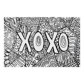 Color your own poster~ XOXO Poster