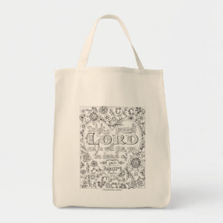 Color Your Own Tote Bag with Scripture Art