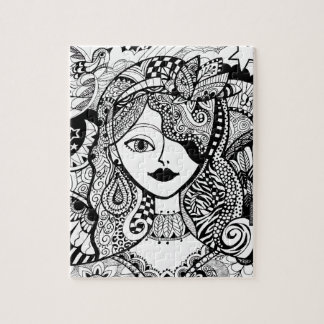 Color Your Own Zendoodle Products Jigsaw Puzzle