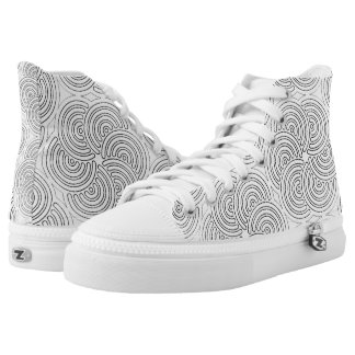 COLOR YOURSELF Design High Top Tennis Shoes Printed Shoes