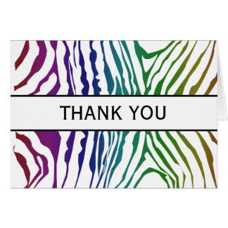 COlor Zebra Patterns Note Card