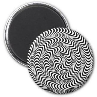 Colorable Optical Block Spiral Refrigerator Magnet