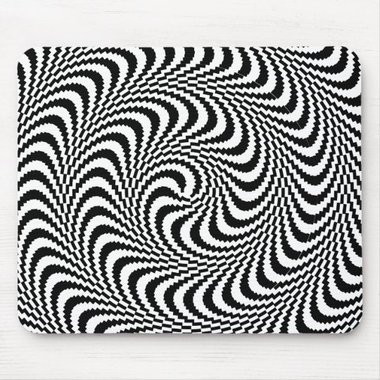 Colorable Optical Block Spiral Mouse Mat