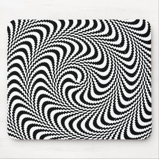 Colorable Optical Block Spiral Mouse Pad