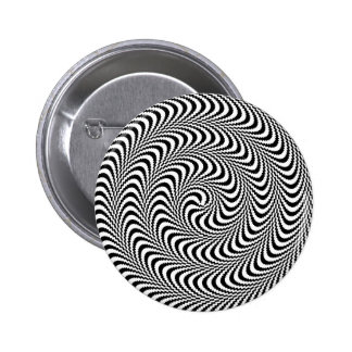 Colorable Optical Block Spiral Pinback Buttons